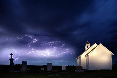 Guns Arms And Weapons - Storm and the Country Church by Mark Duffy