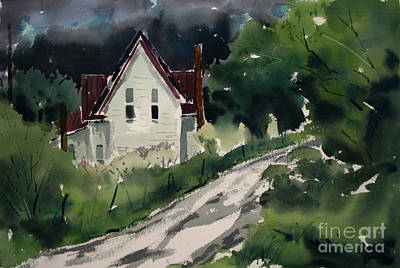 Summer Thunderstorm Painting - Storm Approach Plein Air Framed Glazed by Charlie Spear