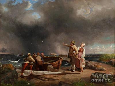 Storm Approaching Art Print