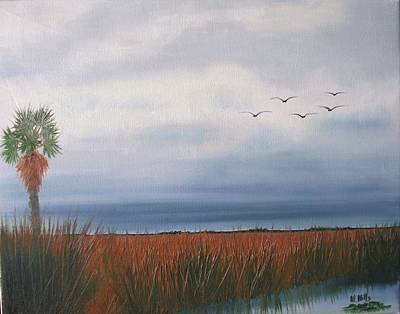 Painting - Storm Approaching In The Everglades by Maria Mills