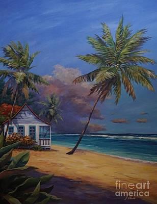 Caribbean Sea Painting - Storm Approaching by John Clark