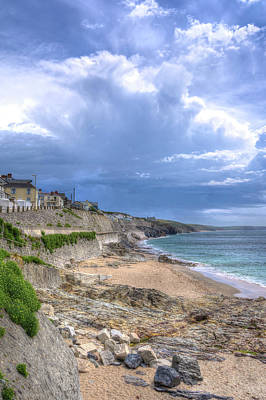Photograph - Storm Approaching Porthleven by Hazy Apple
