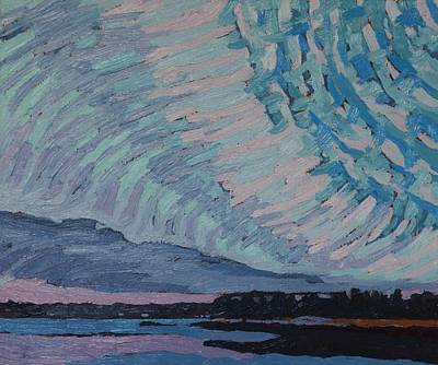 Spring Storm Painting - Storm Approaching Singleton by Phil Chadwick