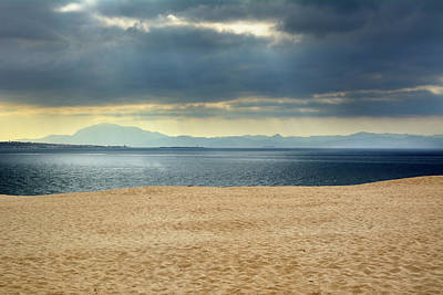 Tarifa Photograph - Storm At African Mountains From The Dune by Guido Montanes Castillo