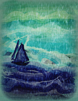 Painting - Storm At Sea by Amy Shaw