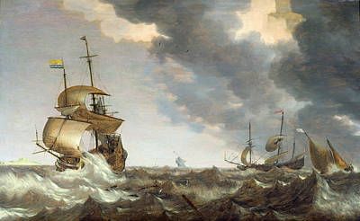 Storm At Sea Art Print by Bonaventura Peeters