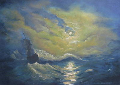 Painting - Storm At Sea by Claudia Croneberger