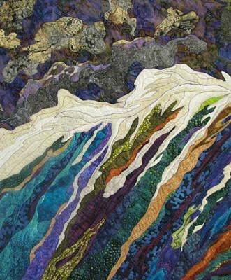 Lynda Boardman Art Tapestry - Textile - Storm At Sea by Lynda K Boardman