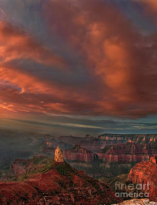Photograph - Storm At Sunrise Point Imperial Grand Canyon National Park Arizona by Dave Welling