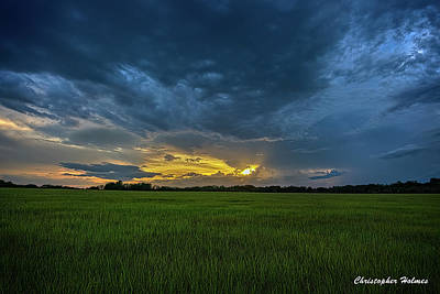 Photograph - Storm At Sunset by Christopher Holmes