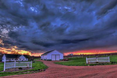 Photograph - Storm At Sunset by Dale Kauzlaric
