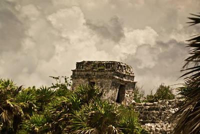 Homesickness Photograph - Storm At Talum Ruins Mexico by Douglas Barnett