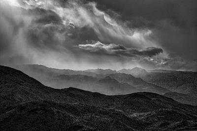 Photograph - Storm - Black And White by Peter Tellone