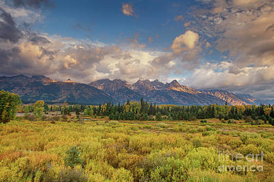 Photograph - Storm Blacktail Ponds Grand Tetons National Park  by Dave Welling