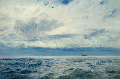 North Sea Painting - Storm Brewing by Henry Moore