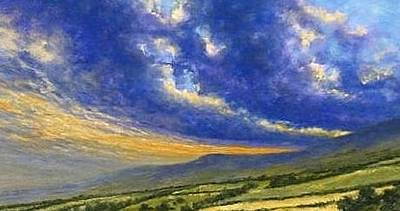 Mountain Scenery Wall Art - Painting - Storm Brewing In Donegal by Jim Gola