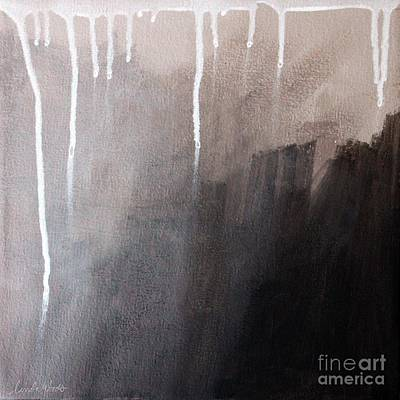 Abstract Landscape Mixed Media - Storm Brewing by Linda Woods