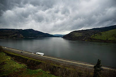 Photograph - Storm Brewing On The Columbia by Tom Cochran