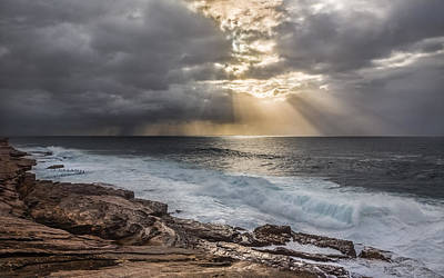 Maroubra Photograph - Storm Brewing On The Horizon by Evan Christie