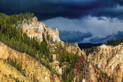 Photograph - Storm Brewing Over Yellowstone by John M Bailey
