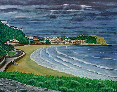 Kids Cartoons - Storm Brewing - Scarborough Bay by Ronald Haber