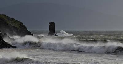 Photograph - Storm Brian Kinard Beach by Barbara Walsh
