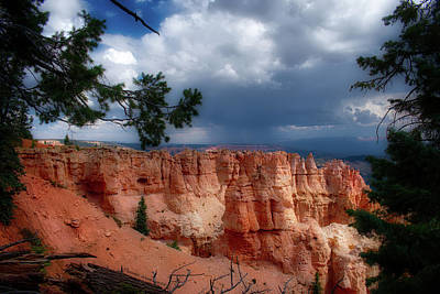 Photograph - Storm Cell Bryce Point Bryce Canyon Utah by Thomas Woolworth