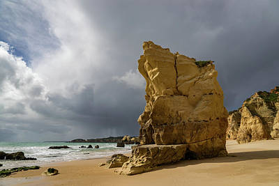 Photograph - Storm Chasing On The Beach In Algarve Portugal by Georgia Mizuleva