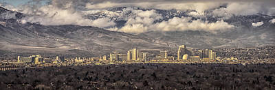 Fantasy Royalty-Free and Rights-Managed Images - Storm Clearing over Reno Pano by Janis Knight