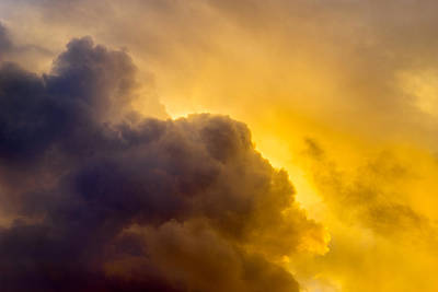 Photograph - Storm Cloud Sunset by Derek Dean