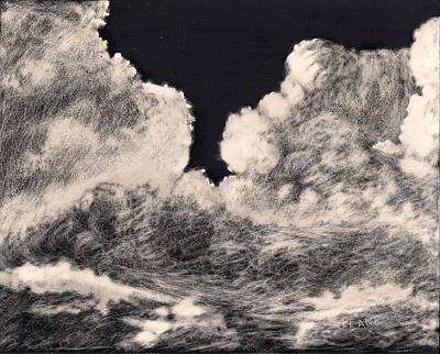 Cloudscape Drawing - Storm Clouds 1 by Elizabeth Lane