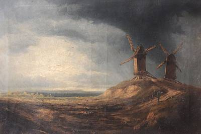 Storm Clouds Painting - Storm Clouds Above Two Windmills by John Constable