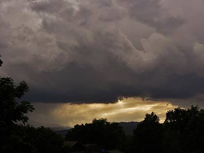 Lovely Lavender - Storm Clouds and Sunset by CL Redding