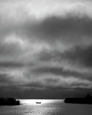 World War 2 Action Photography Royalty Free Images - Storm clouds approaching boat on Northern Saskatchewan lake  Royalty-Free Image by Mark Duffy