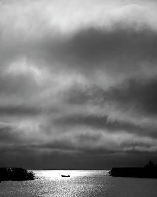 Cloudscape Digital Art - Storm Clouds Approaching Boat On Northern Saskatchewan Lake  by Mark Duffy