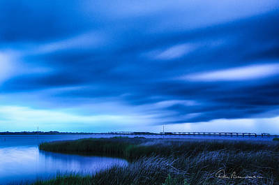 Dan Beauvais Royalty-Free and Rights-Managed Images - Storm Clouds at New Inlet 7015 by Dan Beauvais