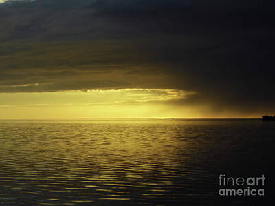 Photograph - Storm Clouds At Sunset by D Hackett