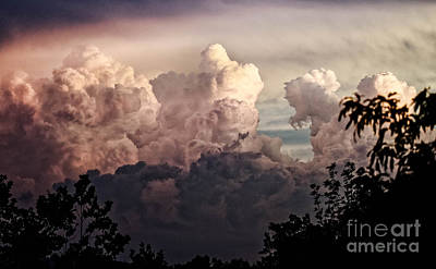 Photograph - Storm Clouds At Sunset by Paul Mashburn