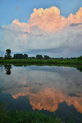 Photograph - Storm Clouds At Sunset Reflected In Lake by Ray Mathis