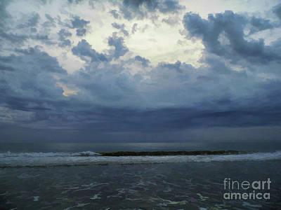 Photograph - Storm Clouds At The Beach by D Hackett