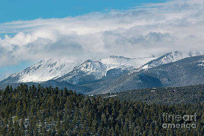 Photograph - Storm Clouds Blanketing Pikes Peak by Steve Krull