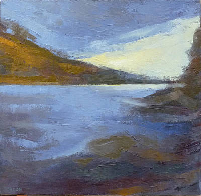 Painting - Storm Clouds Break Over The River Gorge by Kim Gordon