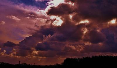 Storm Clouds Gathering Art Print by Richard Brookes