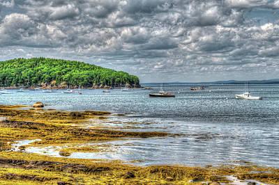 Digital Art - Storm Clouds In Maine by Melinda Dreyer