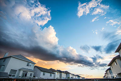 Photograph - Storm Clouds In The Sunset by Adnan Bhatti