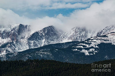 Antique Maps - Storm Clouds on Pikes Peaks by Steven Krull