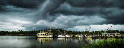 Photograph - Storm Clouds On The Bon Secour Alabama by Michael Thomas