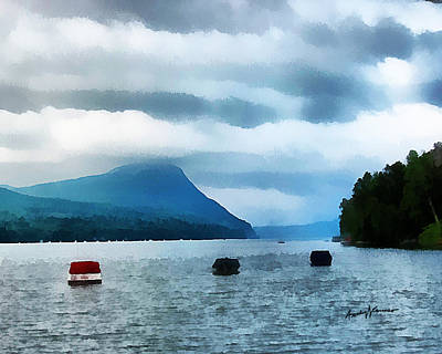Storm Digital Art - Storm Clouds On The Lake by Anthony Caruso