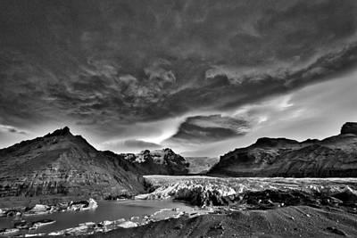 Photograph - Storm Clouds Over A Glacier #2 - Iceland by Stuart Litoff