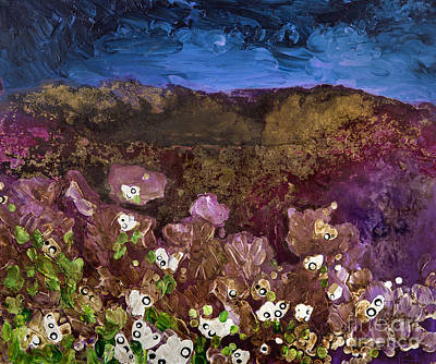 Photograph - Storm Clouds Over A Mountain And Flowers by Tara Thelen